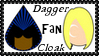 Marvel Comics Cloak + Dagger Fan Stamp by dA--bogeyman