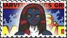Marvel Cover Art Mystique Stamp by dA--bogeyman