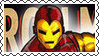 Marvel Cover Art Iron Man Stamp by dA--bogeyman