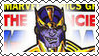 Marvel Cover Art Thanos Stamp by dA--bogeyman