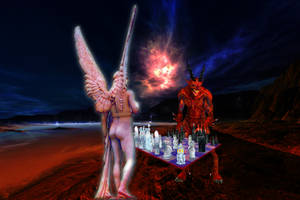 Easter Island Final Match . . . 'CHECKMATE!' by surreal1st1cp1llow
