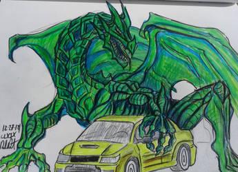 Dragon lancer Evo IX by danieldenta169