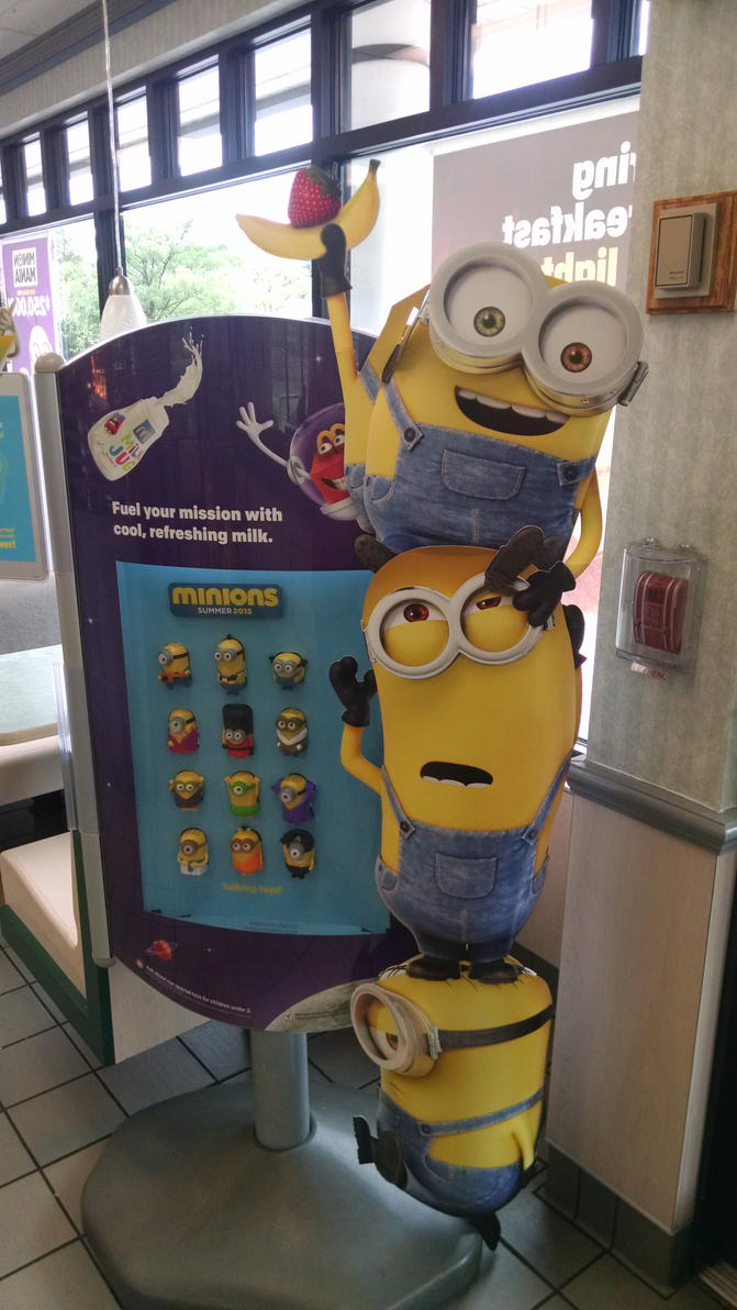 Minions in McDonald's by hot293wildcat