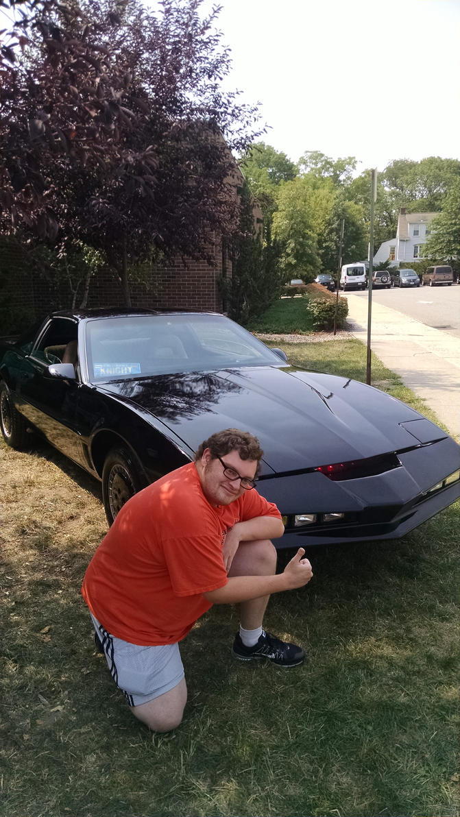 Me and KITT by hot293wildcat