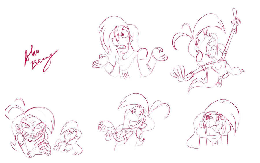 Prohyas and Vambre sketches by Jeibi