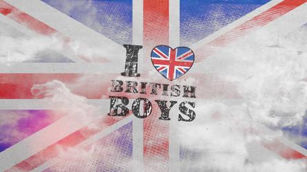 I Love British Boys Wallpaper