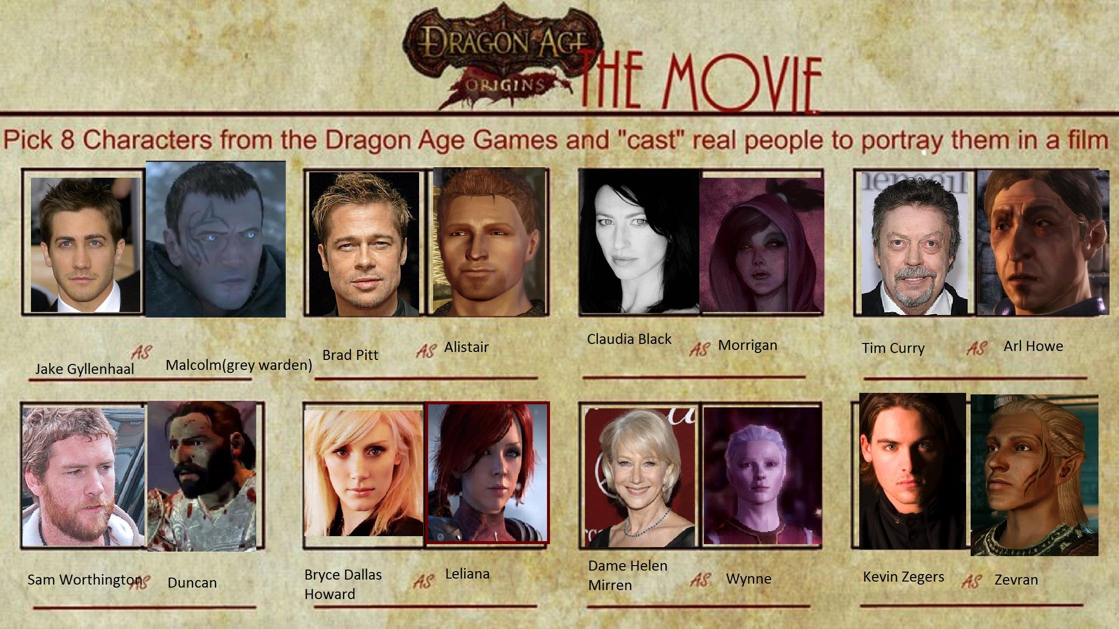 Dragons Movie Characters Dragon Age Origins Movie Meme