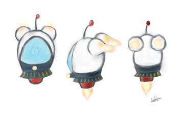 Blob Ship Concept by geler7