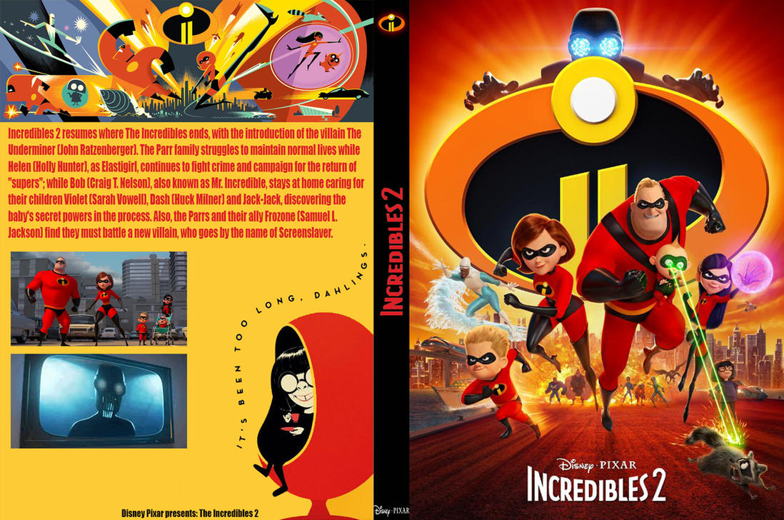 Incredibles 2 DVD Fan Made By Movies Of Yalli