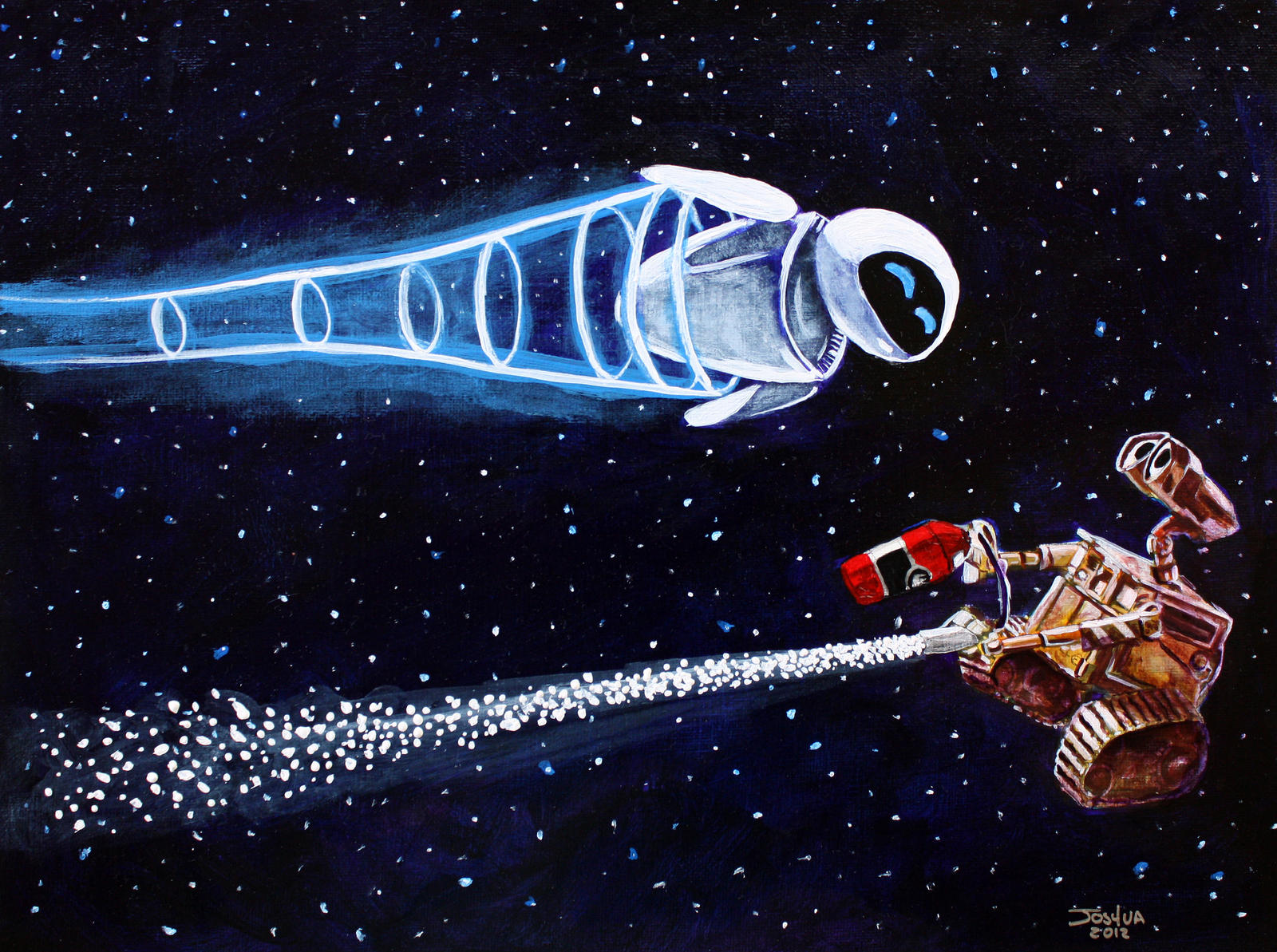 Uncategorized Wall-e And Eve wall e and eve dancing in space by tater vader on deviantart vader