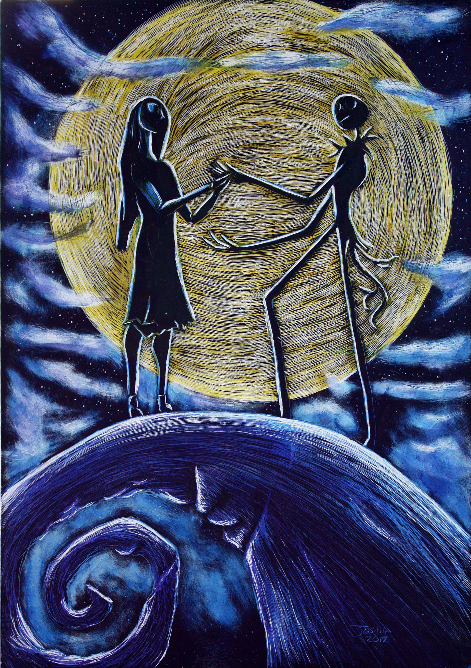 Nightmare Before Christmas- Jack and Sally by Tater-Vader ...
