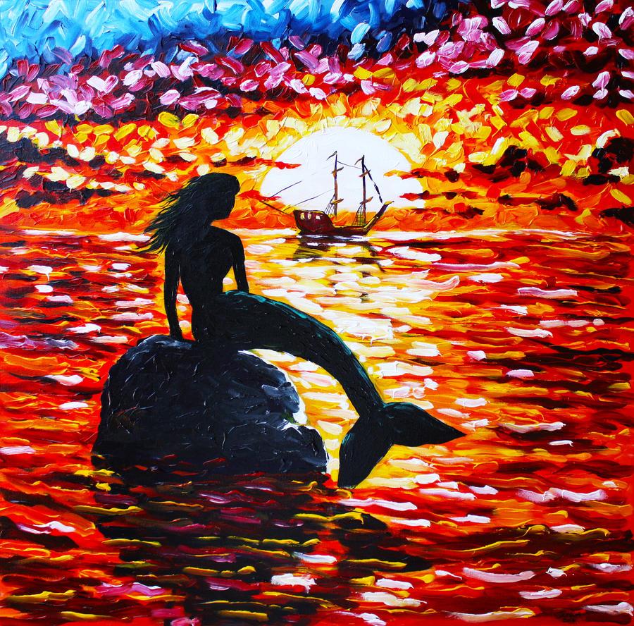 A Mermaid Greeting by Tater-Vader