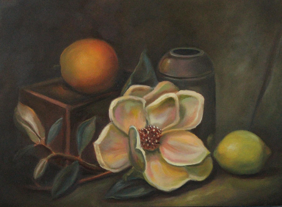 Still Life with Magnolia by Valerhon