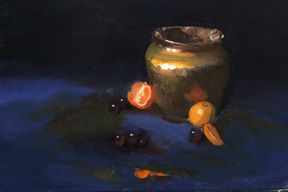 Copper Pot and Oranges by Valerhon