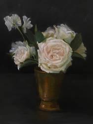 White Rose Still Life by Valerhon