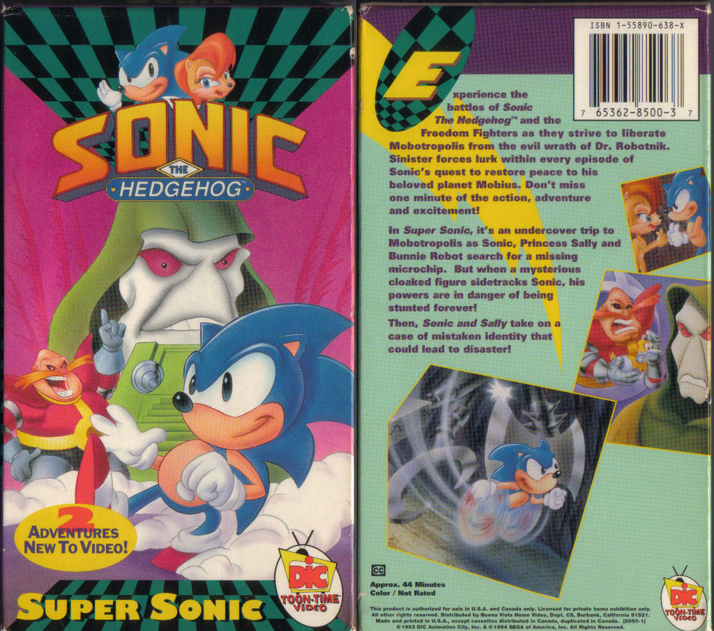 Super Sonic 1994 Vhs Tape Cover By The Satam Zone On Deviantart