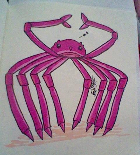 Mr. Spider Crab by fuchsia-neko