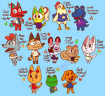 my characters but in animal crossing