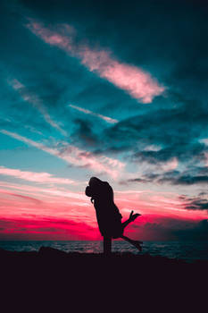 Love Silhouette Sunset