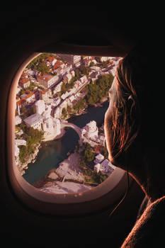 Woman watching Old Bridge