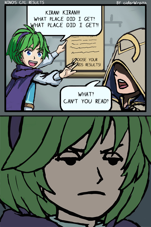 Nino's Choose Your Legends Results by ciderWrath