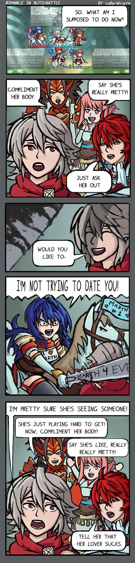 Romance in Auto-Battle by ciderWrath