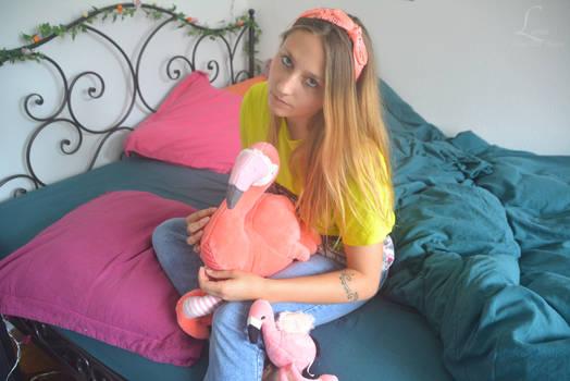 Fluo flamingo