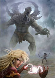 Giant fight by FF2D