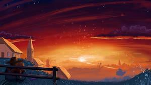 Watching the sunset by Emyl-Eikenaar