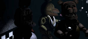 All Withered Animatronics On Show Stage (FNaF1)