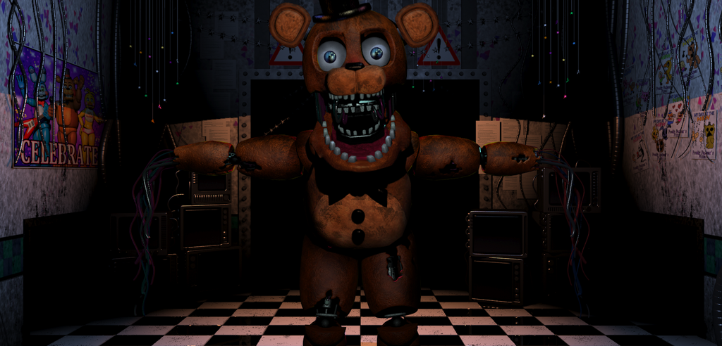 Chica as Withered Freddy - COMMISSION by fearlessgerm82