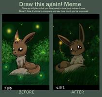 Draw This Again Meme: Eevee by SeaJelli
