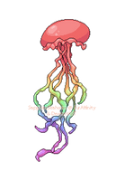 Pixel: Rainbow Jellyfish by SeaJelli