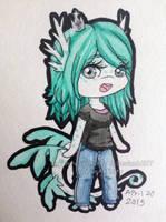 Watercolor Sapph Chibi by SeaJelli