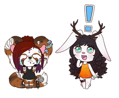 C: KammyMau and AnnabellRose by SeaJelli