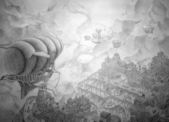 Airship flight by Emix941