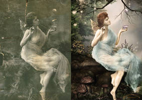 Angel - inspiration and final by umina67 by umina67