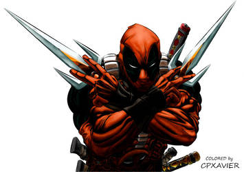 Deadpool (COLORED by ME) by JavierG-Arts