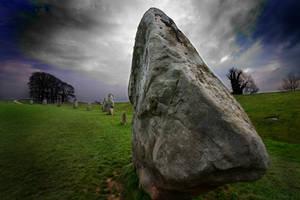 Standing stone at Avebury III by KarlDawson