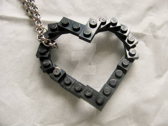 Piece by piece, I'll build your heart, black