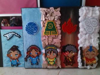 Avatar - perler beads done with Sokka by bGilliand