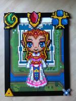 Legend of Zelda -  Perler bead Zelda by bGilliand