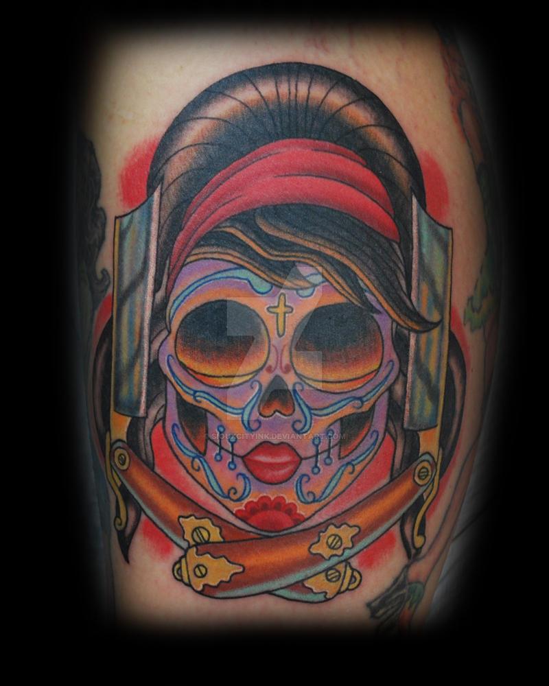 Sugar Skull Tattoo by siouxcityink on DeviantArt
