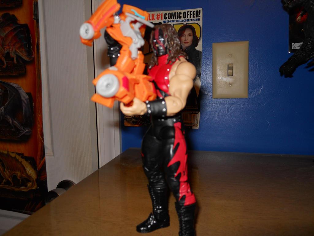 Kane chokeslams Wheelie 001 by BiggEzilla82
