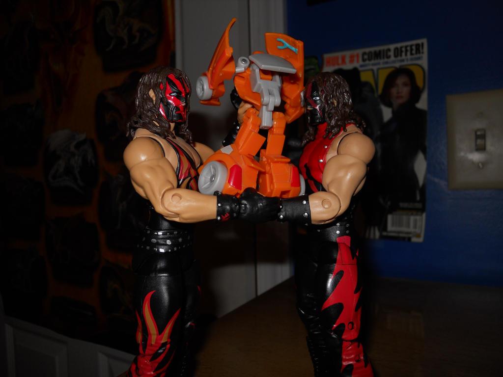 Kane chokeslams Wheelie 002 by BiggEzilla82