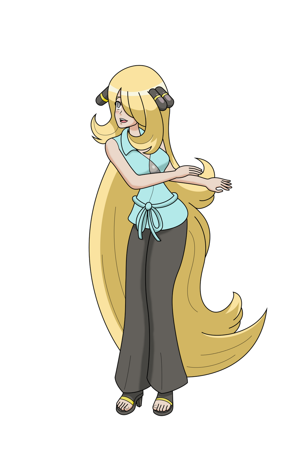 Cynthia confused by Teeter Dance by MegatronMan on DeviantArt
