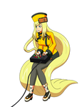Millia Rage playing a fighting game
