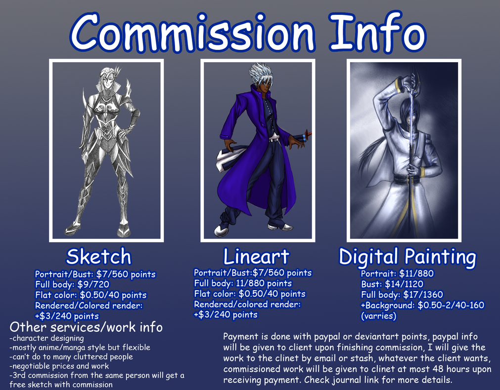 Commission info (open) by aznswordmaster1