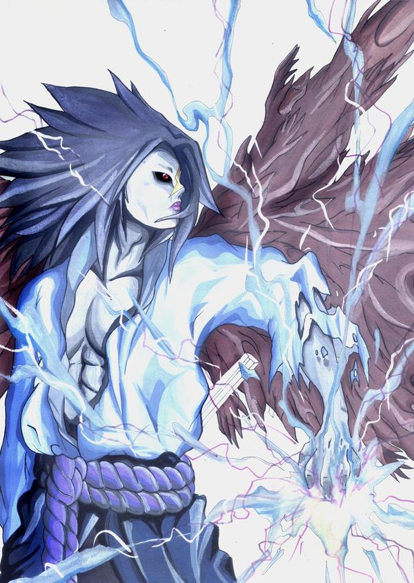 cursed sasuke by MythGaia