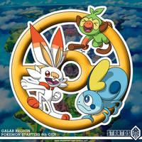 Pokemon Starters 8th Gen by STRATOS-WRF